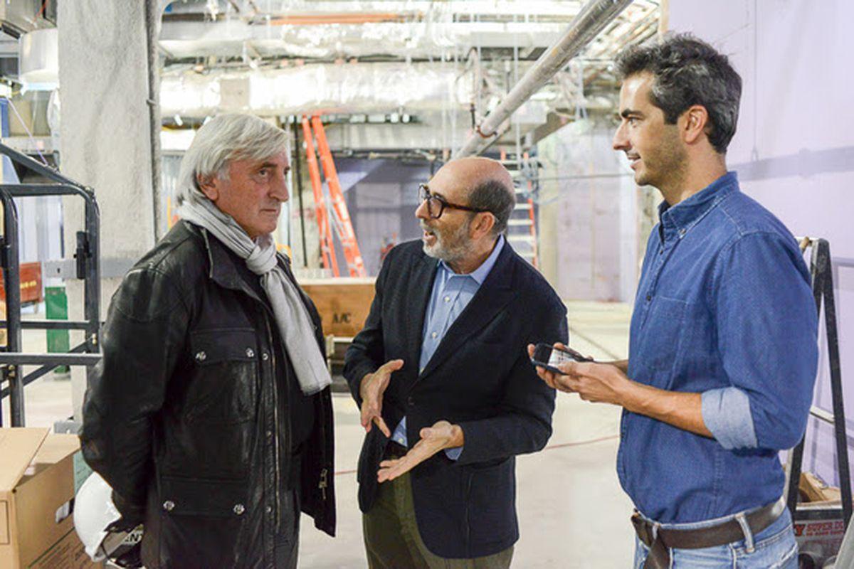 Julian Niccolini, Isay Weinfeld, and Pedro Ricciardi