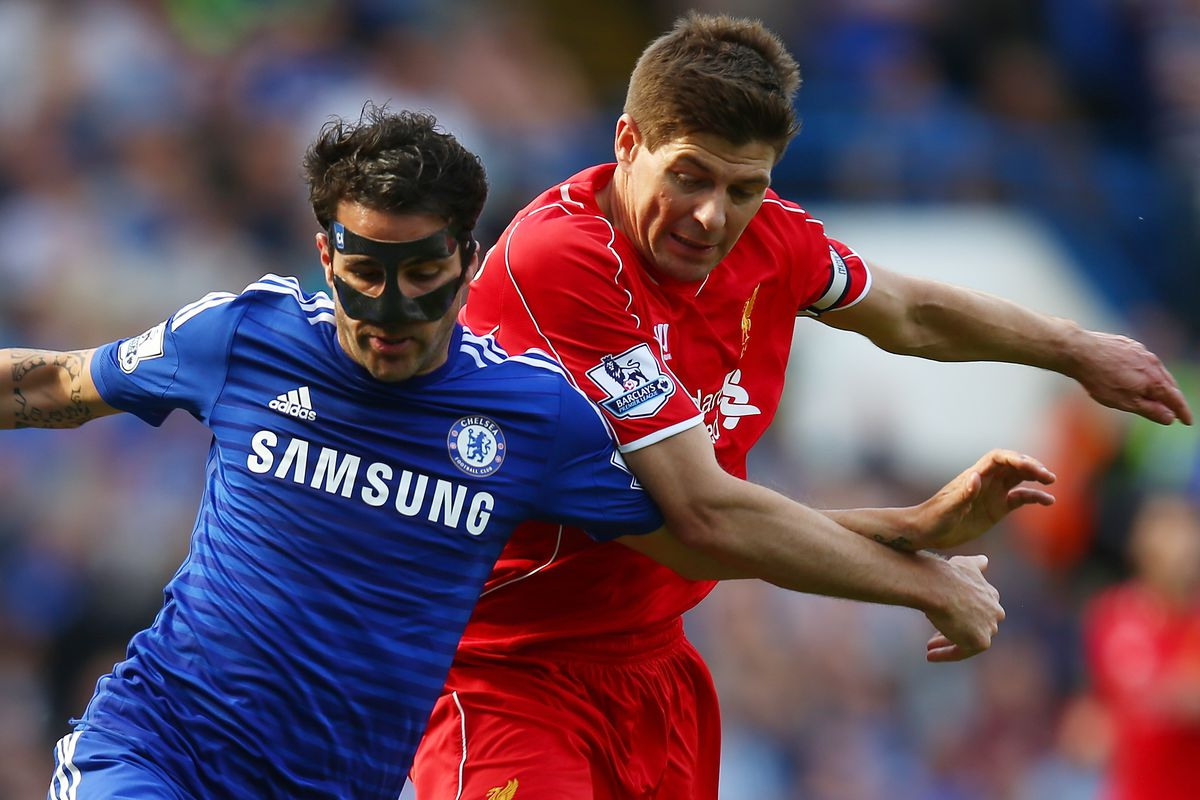 I didn't want to pick a photo featuring an ex-LFC player, but then Cesc Fabregas was in a mask, so.