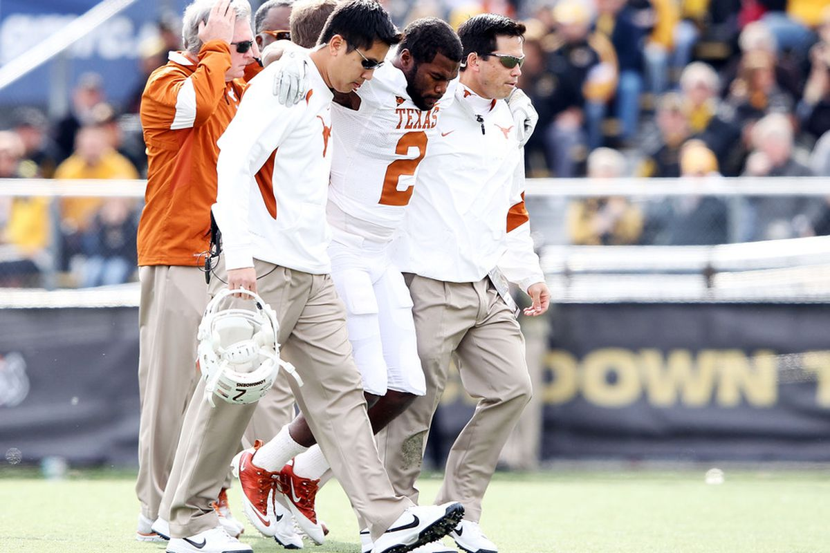 Much as Fozzy Whittaker's injury was devastating to Texas' 2011 season, there are a number of things that would be difficult for this year's football team to overcome.