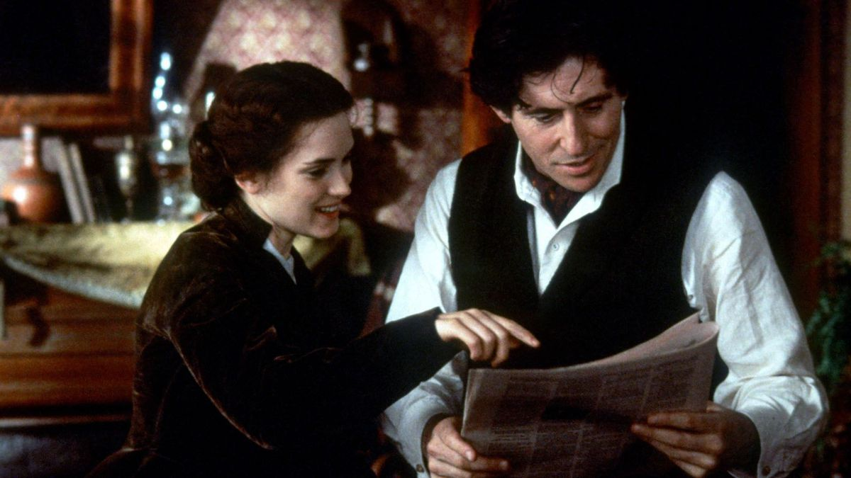 Jo and Bhaer look at a paper in 1994's Little Women