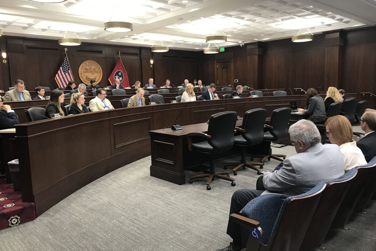 Tennessee Education Commissioner Penny Schwinn testifies Monday before the legislature's Government Operations Committee.