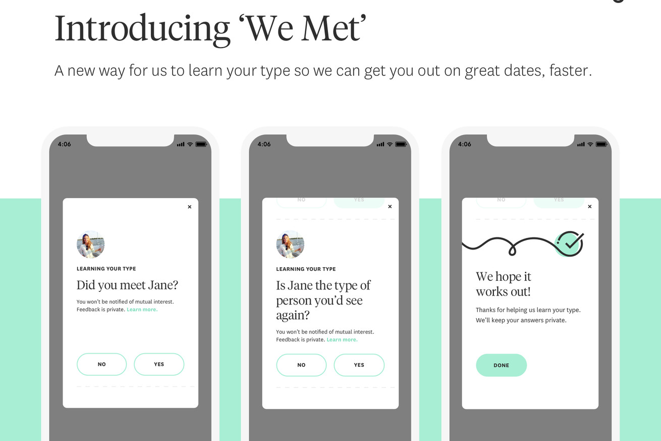 hinge s newest feature lets users rate how their date went