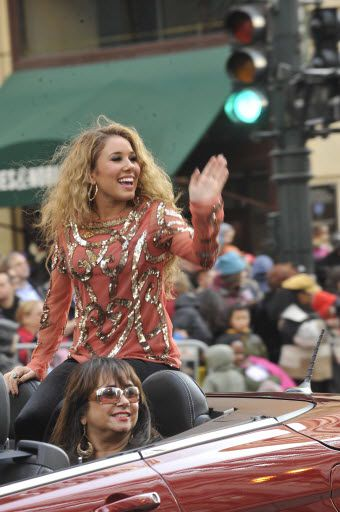 Haley Reinhart rides in the Ronald McDonald Thanksgiving Day Parade along State St. in Chicago on November 22, 2012. I Sun-Times file photo