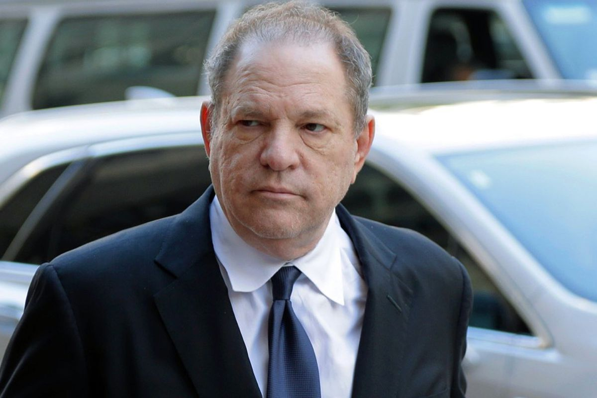 FILe - In this July 9, 2018 file photo, Harvey Weinstein arrives to court in New York. A New York judge cited the long history of the casting couch in Hollywood as he approved for trial the sex trafficking claims of an aspiring actress against Weinstein.