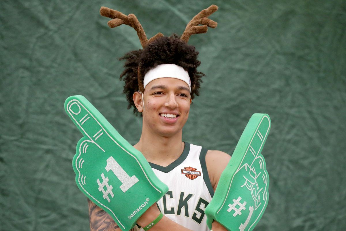 quality design d95f1 57cd7 D.J. Wilson has elevated this Bucks team to new heights ...