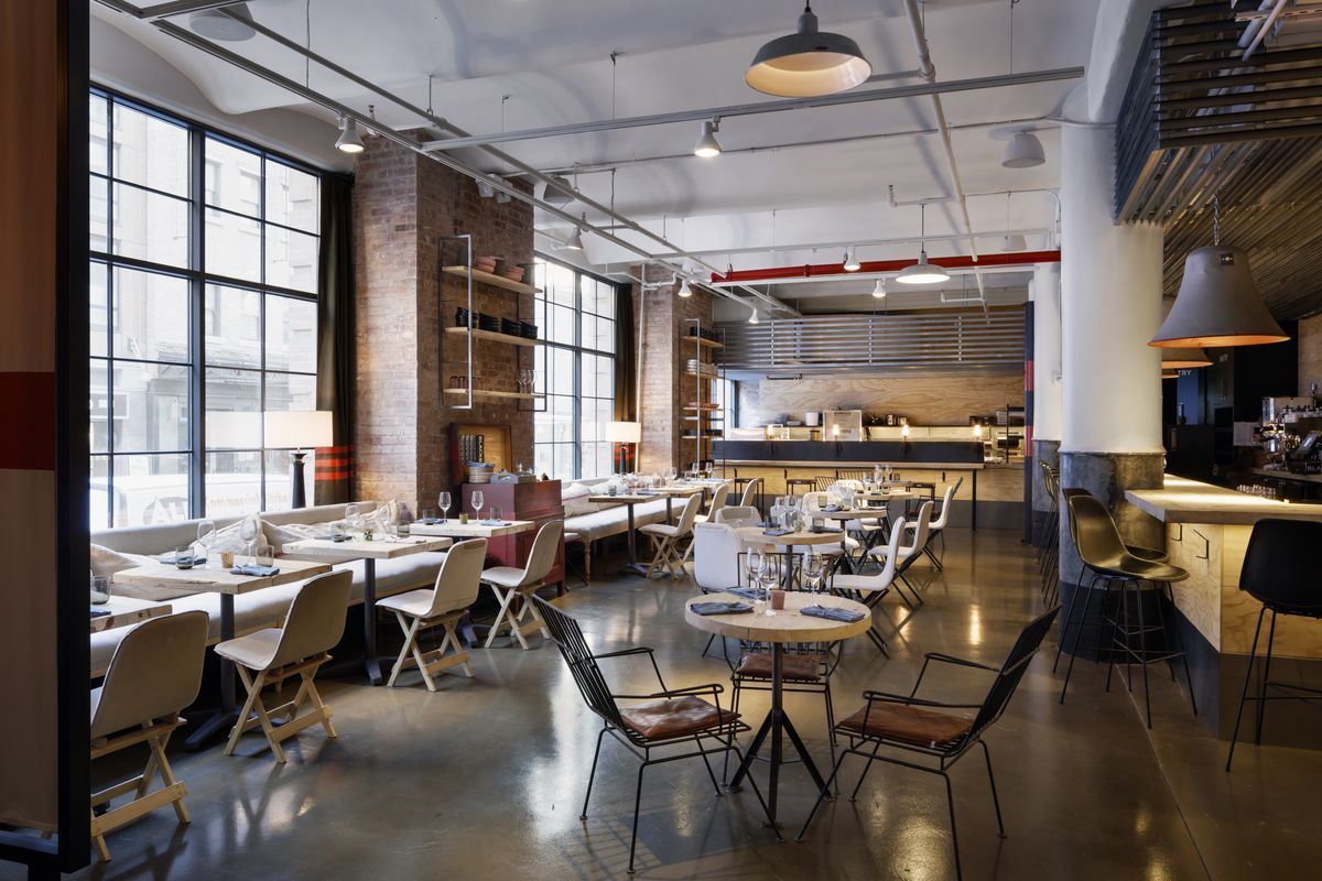 Chelsea market adds a restaurant inside a furniture store for Fish furniture outlet