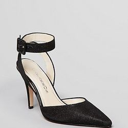 """<a href=""""http://www1.bloomingdales.com/shop/product/caparros-pointed-toe-evening-pumps-ingrid-high-heel"""">Caparros pointed toe evening pumps</a>, $47.40 (were 79)"""