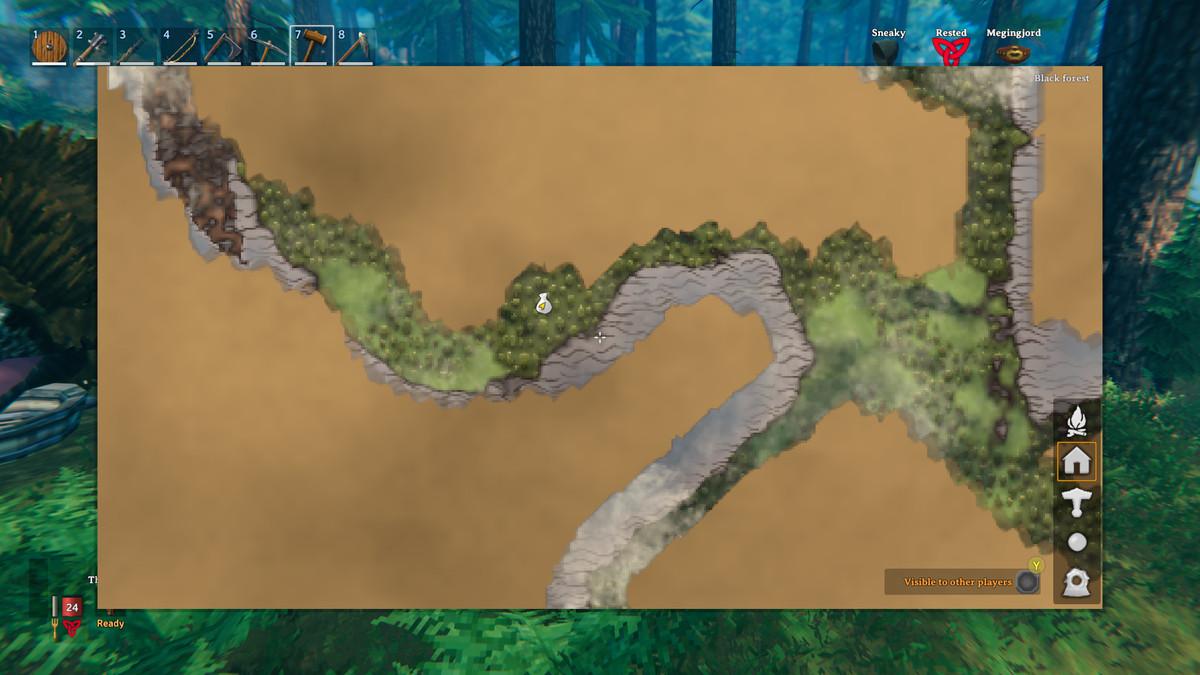 Valheim map marker Haldor location
