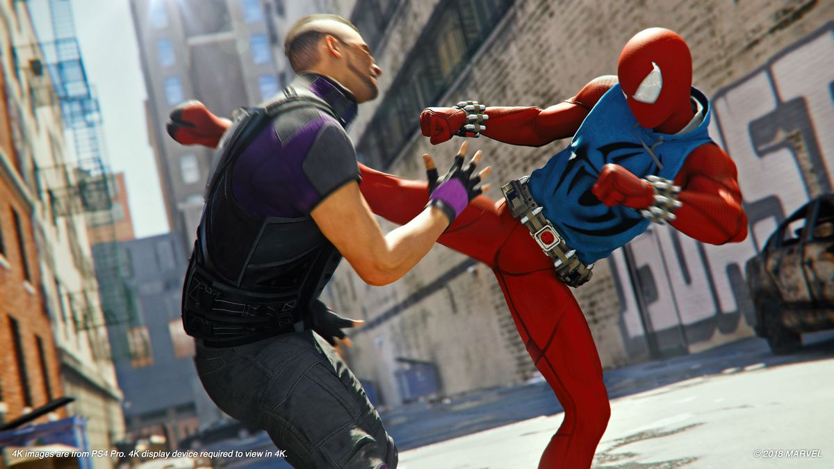 More Spider Man Ps4 Screenshots Feature Scarlet Spider Miles