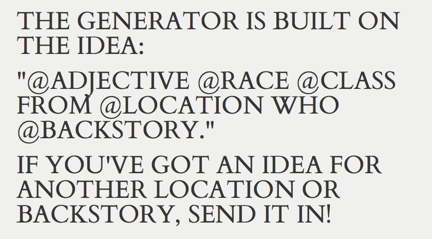 dnd generator