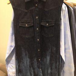 MM6 Maison Martin Margiela denim shirtdress, $161