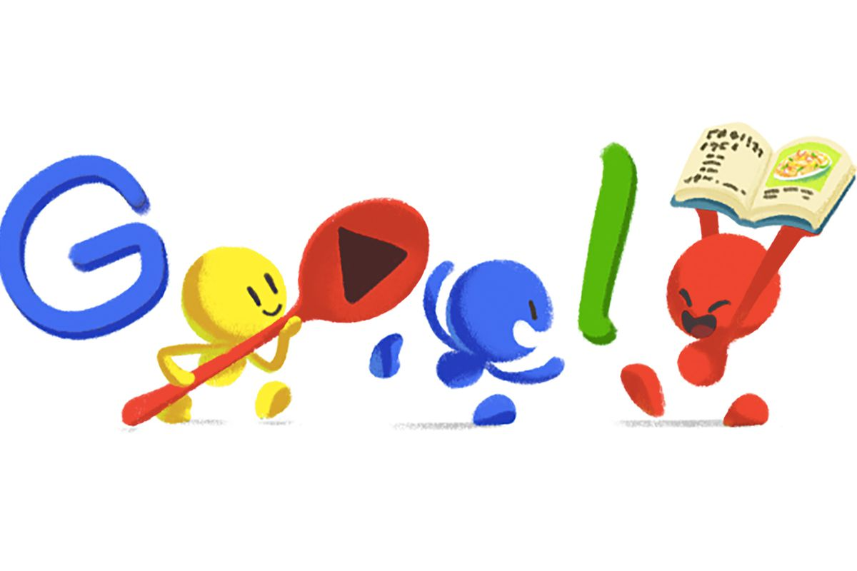 today�s google doodle is a pad thai party eater