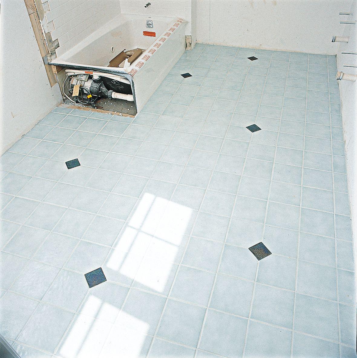 Drying Grout On Bathroom Tile Flooring