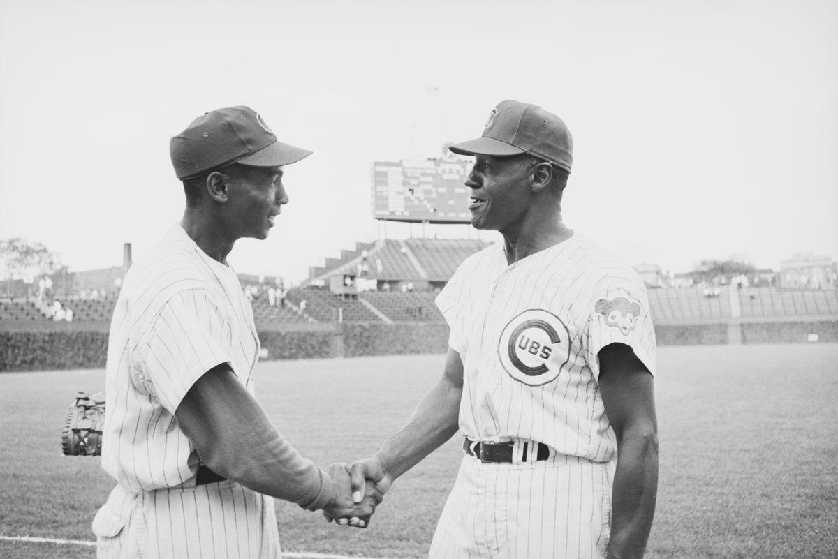 Black Coach Congratulates Ernie Banks