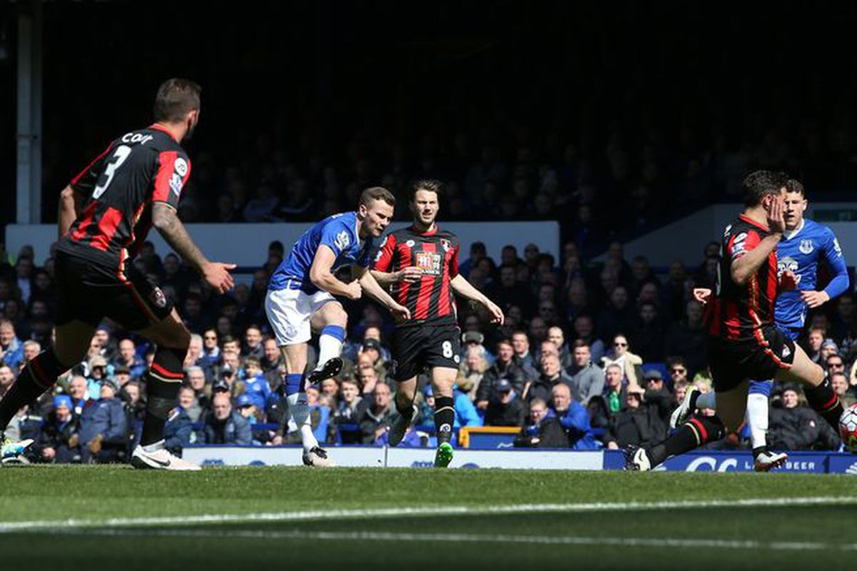 Tom Cleverley scores against Bournemouth