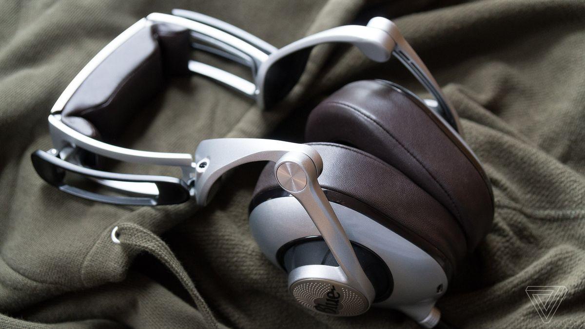 Blue Ella headphones