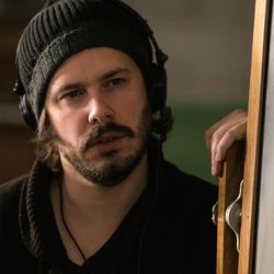 """Director Edgar Wright on the set of """"Baby Driver."""""""