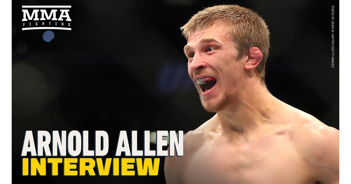 Video: Arnold Allen plans on sending message to top-5 with win over Sodiq Yusuff at UFC Vegas 23