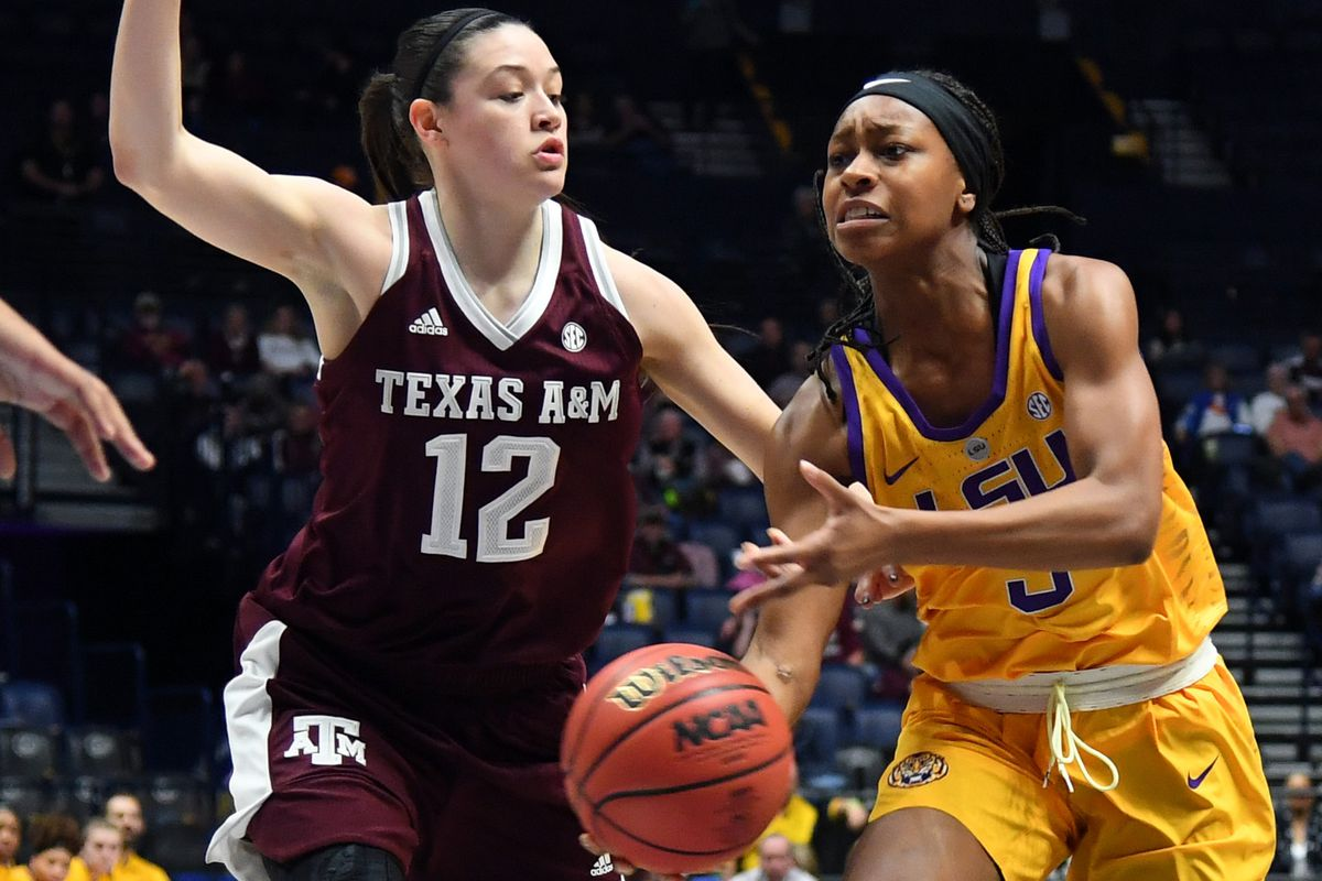 4e86c522167 Khayla Pointer (right) scored a game-high 22 points in the Lady Tigers' win  over then-No. 21 Texas A&M on Sunday, Jan. 6, 2018. LSU faces another No.