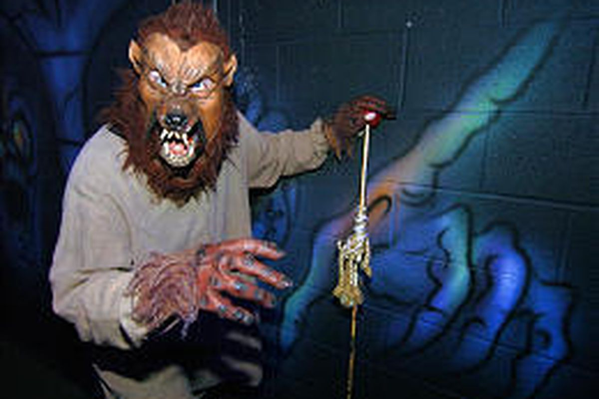 Steve Hagen does his best to frighten visitors brave enough to visit Castle of Chaos.