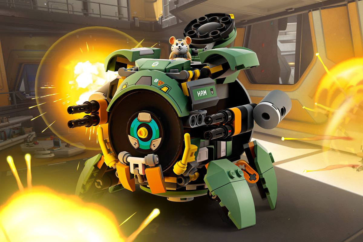 overwatch lego wrecking ball junkrat and roadhog sets