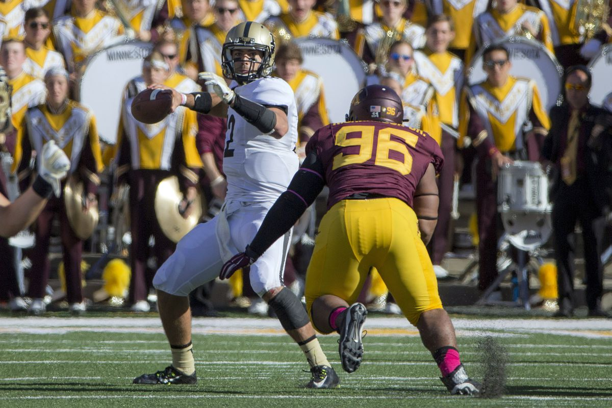Austin Appleby had a good game against the Gophers last October