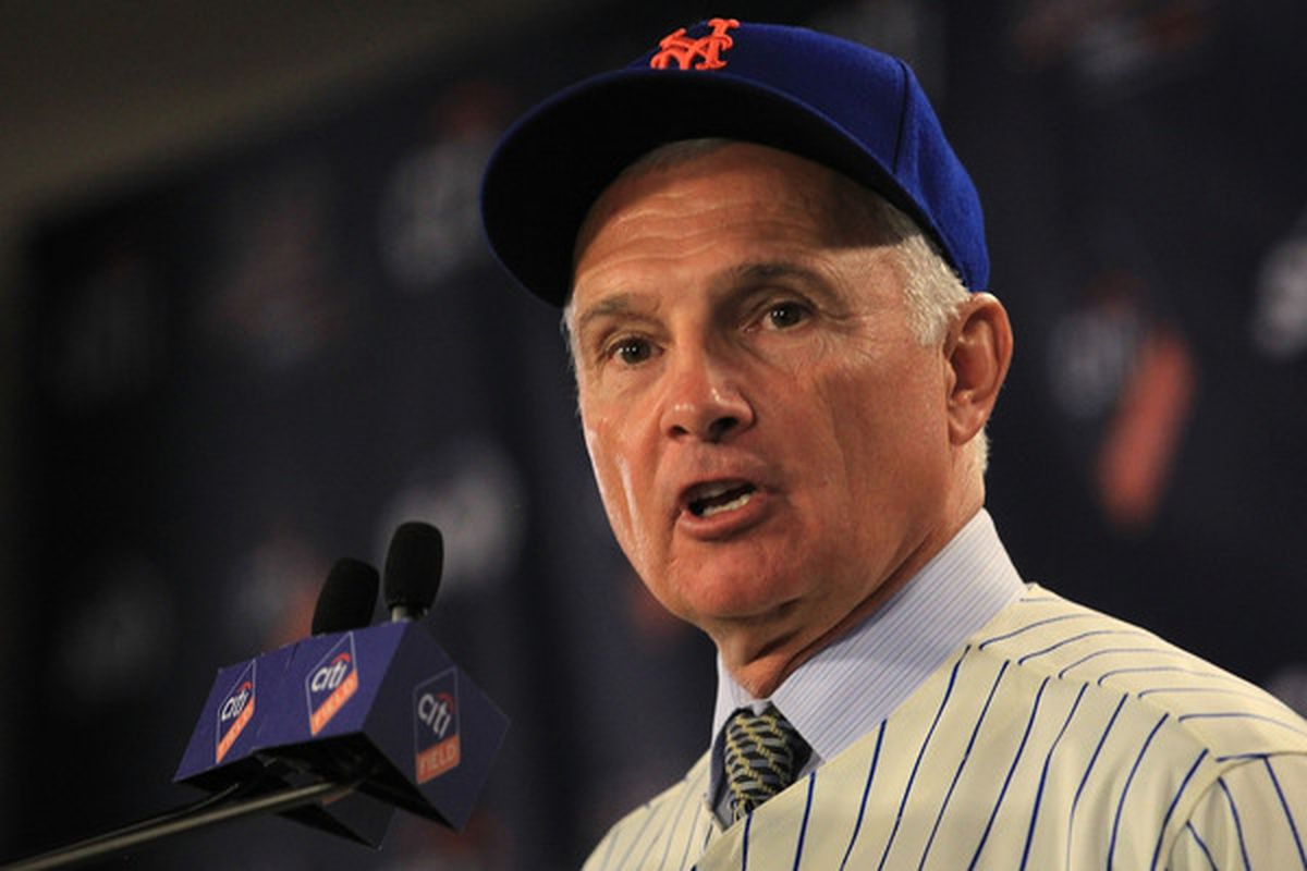 New York Mets new manager <strong>Terry Collins</strong> speaks to the media during a press conference  at Citi Field on November 23 2010 in New York New York.  (Photo by Chris McGrath/Getty Images)