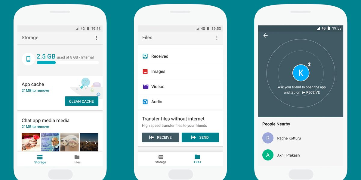 Google's Files Go app is kind of like AirDrop for Android