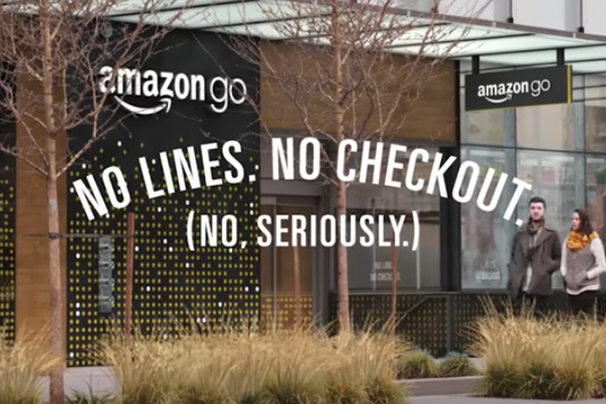 19faa10dcb28 Amazon s new grocery store will let you pick items off shelves and walk out  without paying