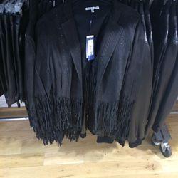 Fringed suede jacket, size L, $200 (was $698)