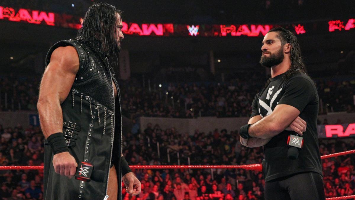Drew McIntyre and Seth Rollins