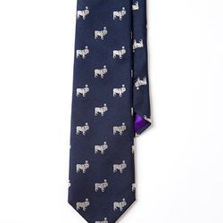 """<b>For the dog lover dad:</b> This NYC-made <a href=""""http://www.duke-winston.com/tie-navy.htm"""">bulldog tie</a>, regularly $68 at <a href=""""http://philly.racked.com/archives/2014/05/06/duke-and-winston-on-the-move-to-1822-chestnut-street.php"""">Duke & Winston"""