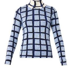 """Kenzo 'Mouline' cashmere blend sweater, <a href=""""http://www.openingceremony.us/products.asp?menuid=2&catid=21&subcatid=45&designerid=1335&productid=112121&sproductid=112123&color=SAPPHIRE&size=S"""">$650</a> at Opening Ceremony"""