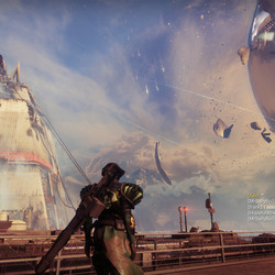 Debris continues to fall near the Traveler