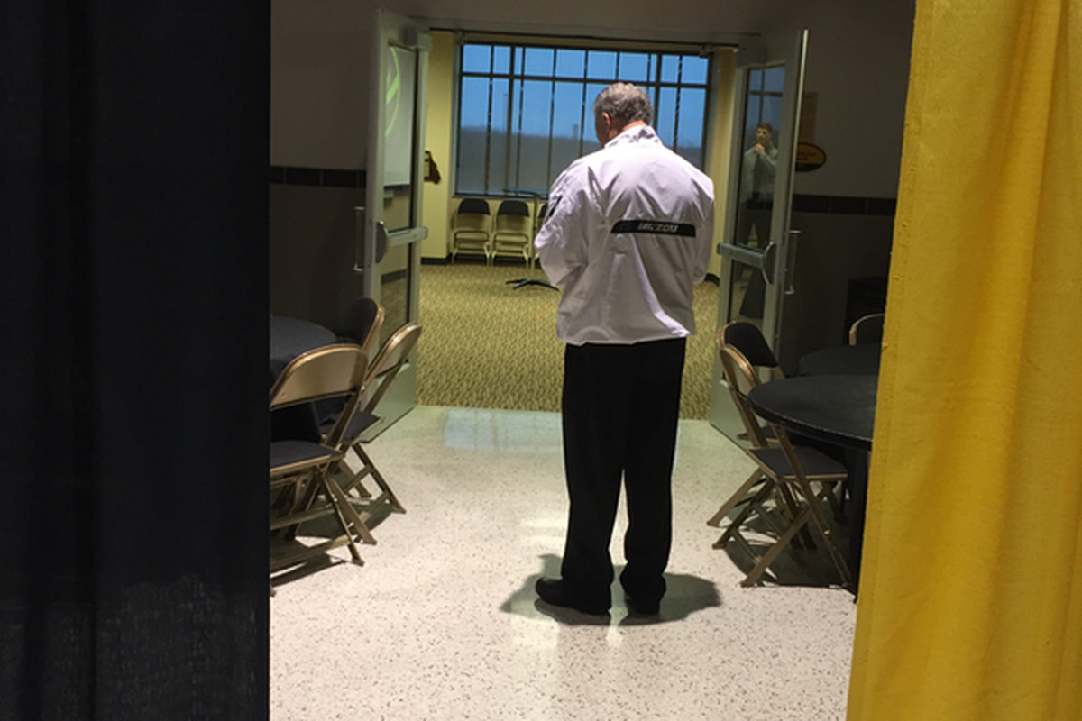 Dave Steckel, seen taking phone call at half-time of Mizzou/Xavier game