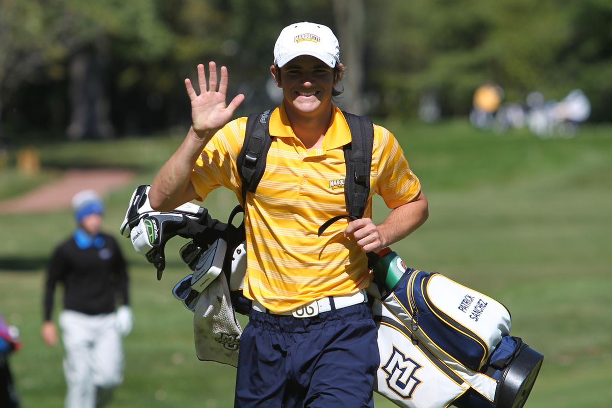 A friendly Pat Sanchez is the best golfer in the Big East this season.