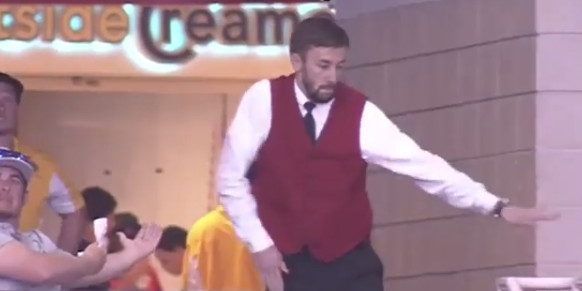 Everyone's in love with the Rockets' dancing usher