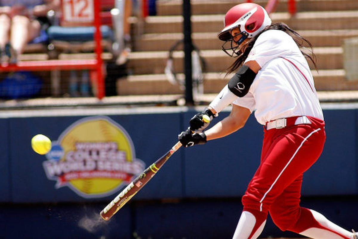 "via <a href=""http://grfx.cstv.com/photos/schools/okla/sports/w-softbl/auto_bsi_player/7815761.jpeg"">grfx.cstv.com</a> Oklahoma true freshman Lauren Chamberlain is just a flat out star."