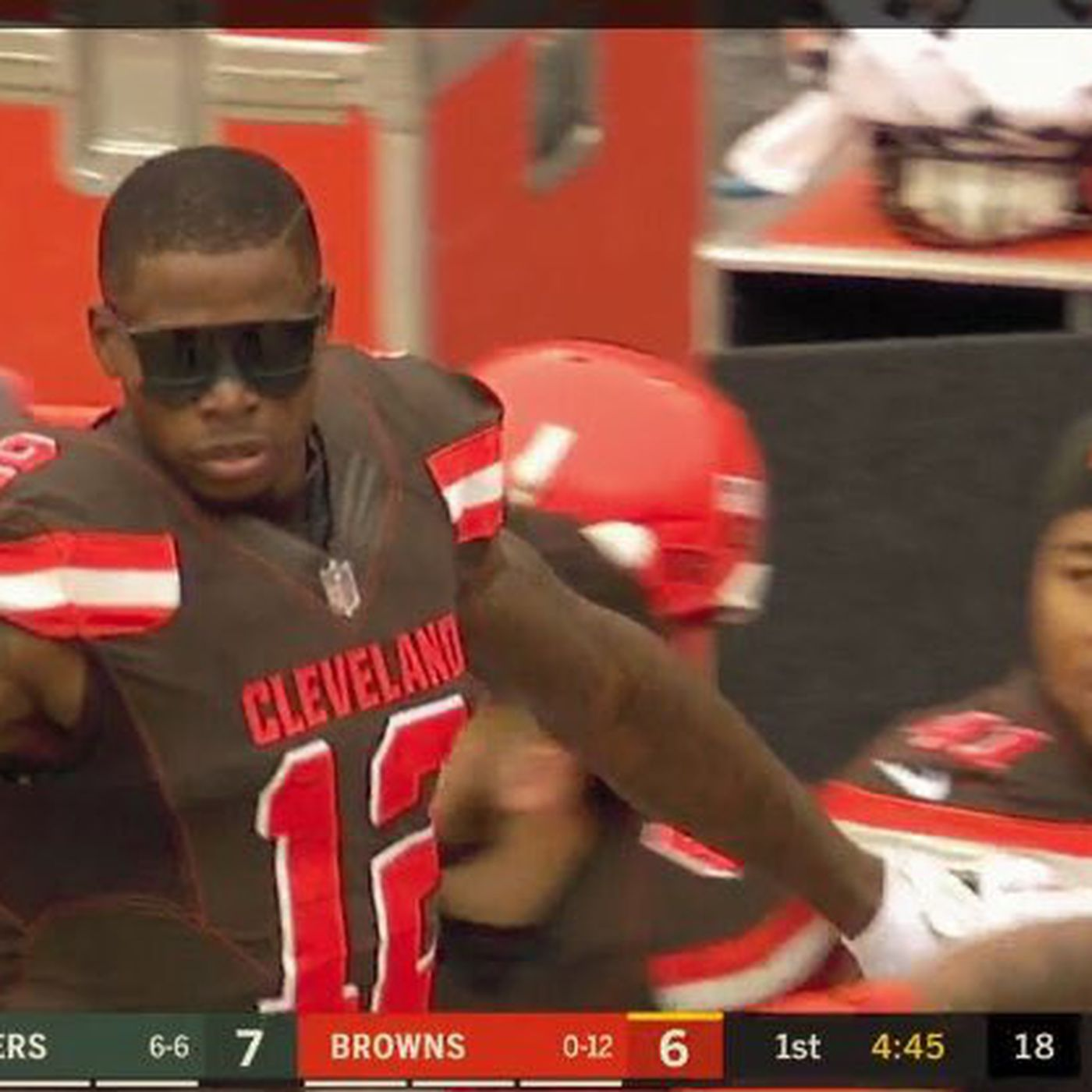 e049ca9489 Browns  Cleveland WRs have a pair of touchdown sunglasses - SBNation.com
