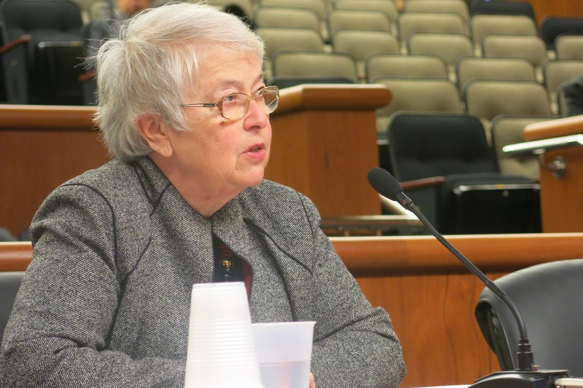 Chancellor Carmen Fariña testified in Albany about mayoral control in February 2015.
