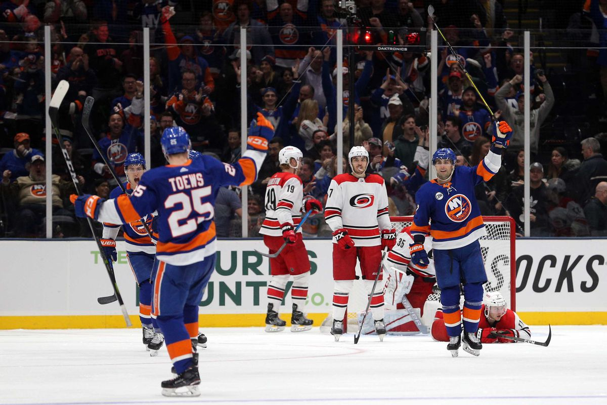 Bildresultat för new york islanders playoffs 2019 hurricanes