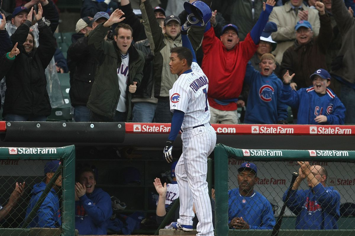 The best memory of Kosuke Fukudome as a Cub, the game-tying homer he hit in the ninth inning on Opening Day 2008.