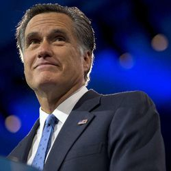 Former presidential candidate Mitt Romney in National Harbor, Md., Friday, March 15, 2013. At least six Republican contenders for the White House will be in Utah through Saturday to meet with a select group of Romney's top contributors at an upscale ski resort.