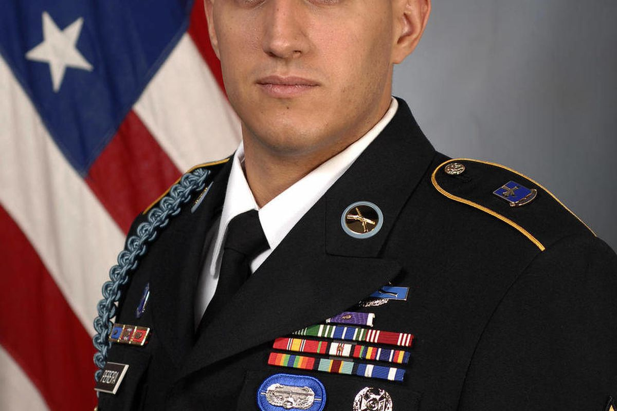 This undated photo provided by the U.S. Army shows Sgt. Felipe Pereira, from Brazil. Pereira of the 101st Airborne Division will be presented with the Distinguished Service Cross by Gen. Ray Odierno, Army chief of staff, during a ceremony Thursday, April