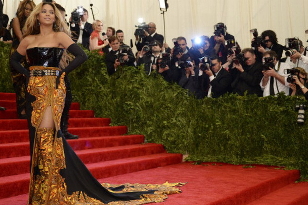 Beyonce at the Met Ball last year, pre-Beygency. Via Getty Images