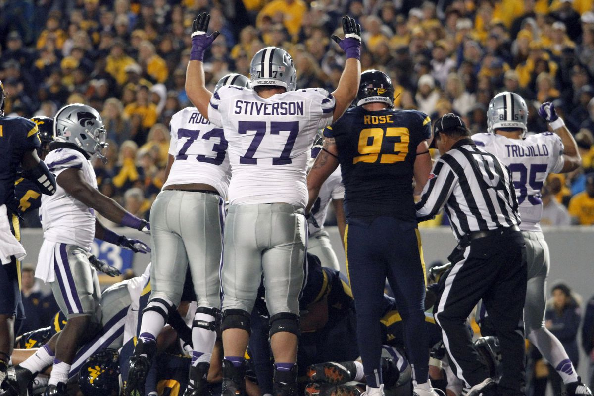 Whether at West Virginia or a variety of other Big 12 road venues, Boston Stiverson gained valuable experience at right guard in 2012.