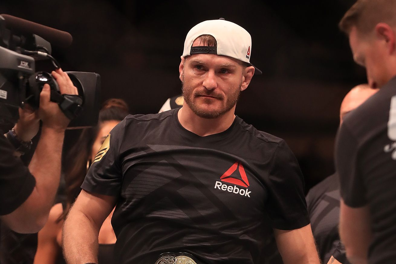 Stipe Miocic reiterates interest in Anthony Joshua boxing match   'It would be a great fight'
