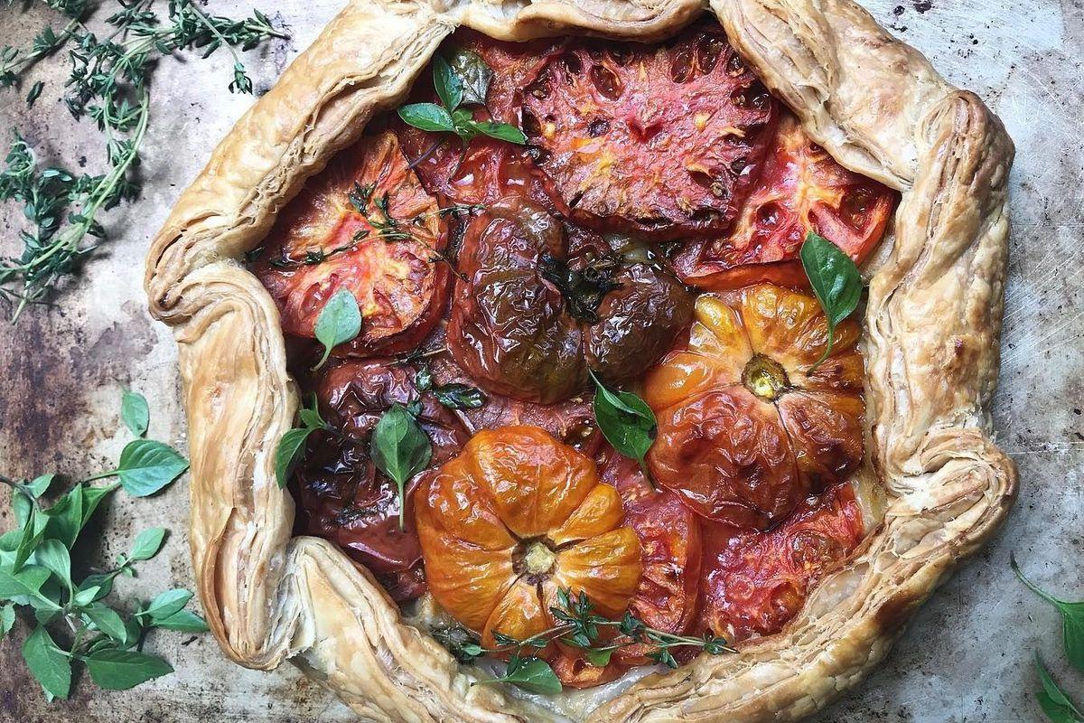 Tatte heirloom tomato galette