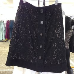 Suede skirt, $650