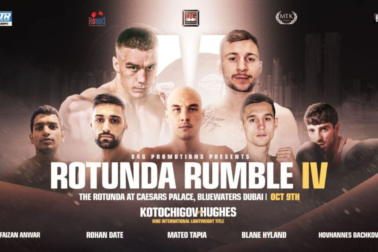 Rotunda Rumble 1024x576.0 - Kotochigov-Hughes, Bachkov pro debut set for Oct. 9